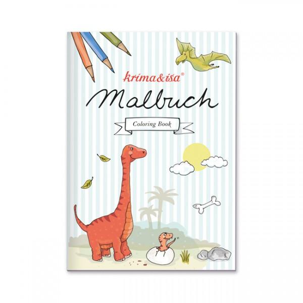 Malbuch Dinosaurier Krima und Isa