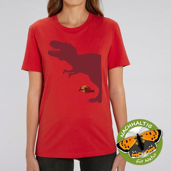 Unisex Shirt Dino-Silouhette T-Rex red
