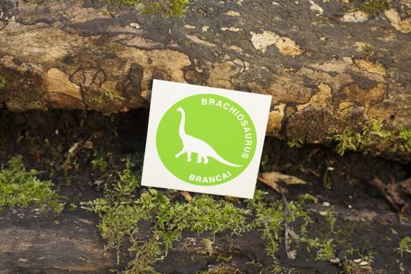 Aufkleber Dinosaurier Brachiosaurus grün