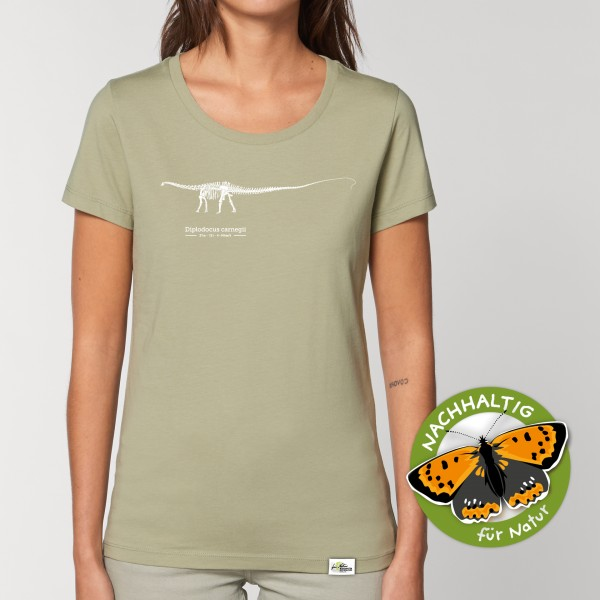 Damen T-Shirt Sage Diplodocus