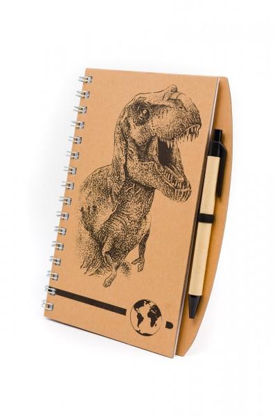 Notizbuch A5 mit T-Rex