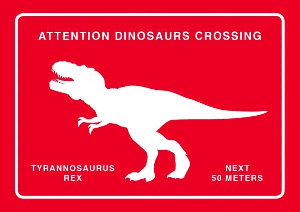 Magnet T-Rex Crossing