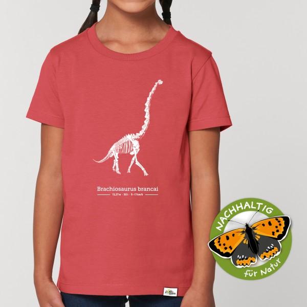 Kinder T-Shirt Brachiosaurus carmine rot