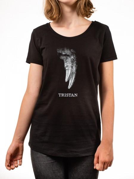 T-Shirt Dinosaurier Tristan Otto Kinder Schwarz