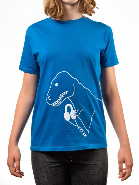 Kinder T-Shirt Audio T-Rex Royal blau