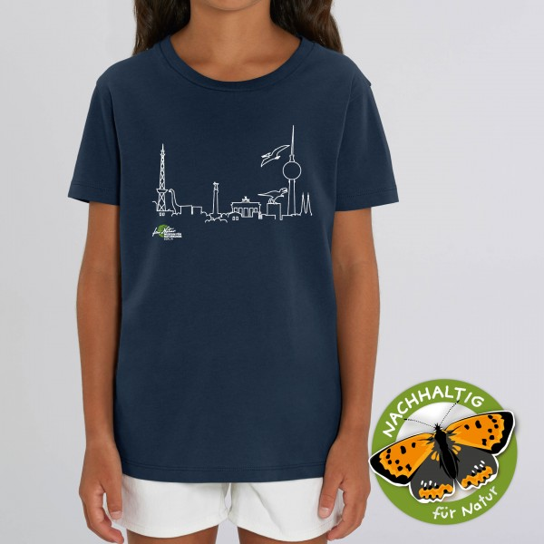 Kids Shirt Dino-Skyline french navy
