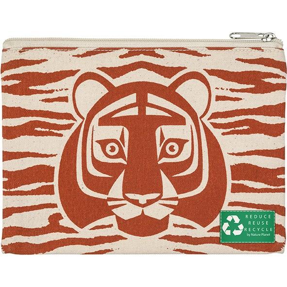 Kosmetiktasche Tiger Ökobaumwolle