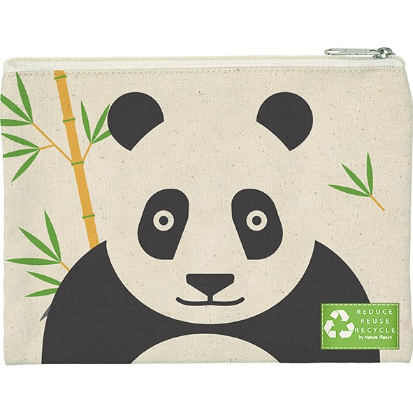 Kosmetiktasche Panda Ökobaumwolle