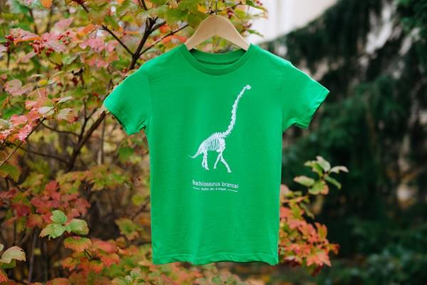 T-Shirt Dinosaurier Brachiosaurus Skelett Kinder