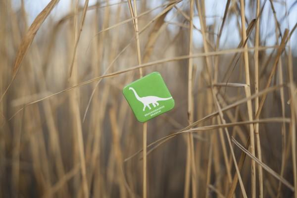 Button Brachiosaurus grün