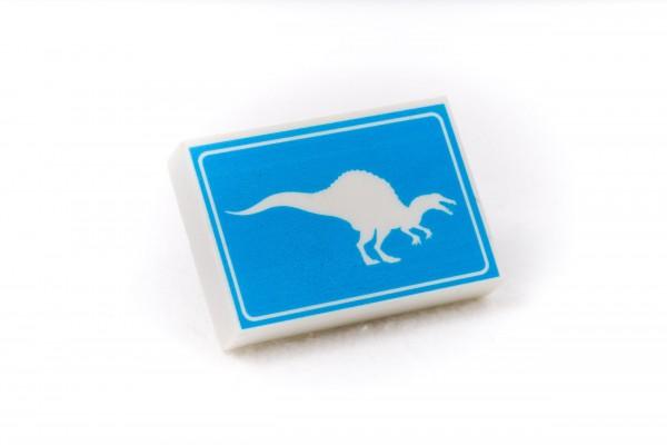Radiergummi Dino Spinosaurus Crossing Blauweiß
