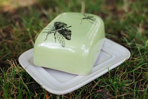 Butterdose grün Motiv Schmetterling, VIA