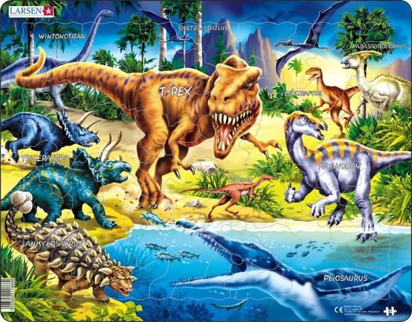 Puzzle Dinolandschaft von Larsen