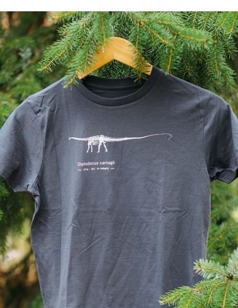 T-Shirt Dinosaurier Diplodocus Skelett Kinder