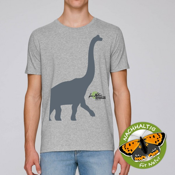 Unisex Shirt Dino-Silouhette Bachio heather grey