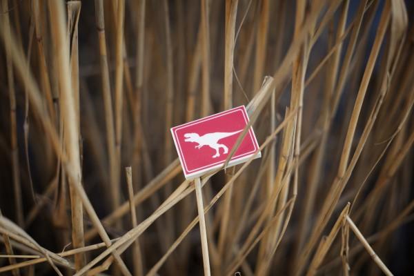 Radiergummi T-Rex Crossing Rotweiß