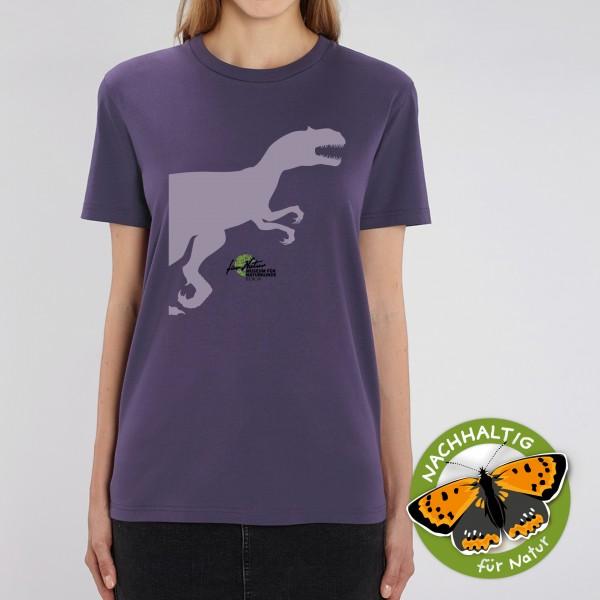 Unisex Shirt Dino-Silouhette Allosaurus Plum
