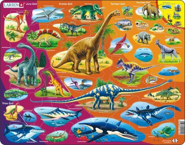 Puzzle Dinosaurier und ihre Zeitepochen Larsen