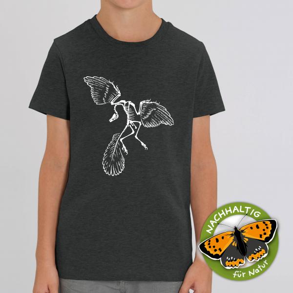 Kids T-Shirt Archaeopteryx Bio Baumwolle anthrazit
