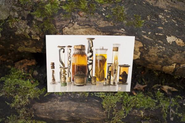 Postkarte Alkoholgläser