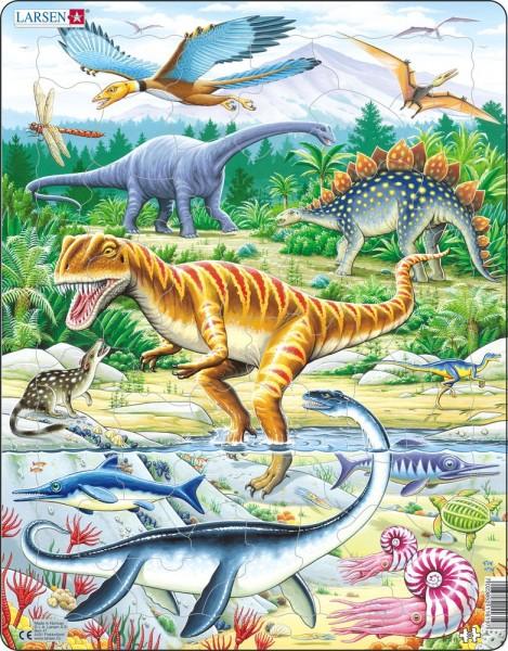 Dinosaurier Puzzle Jurazeit von Larsen