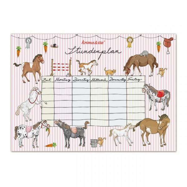 Stundenplan Pony von Krima und Isa