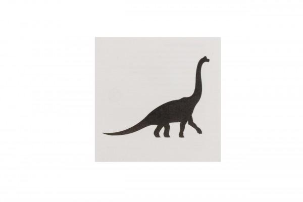 Tattoo Brachiosaurus schwarz