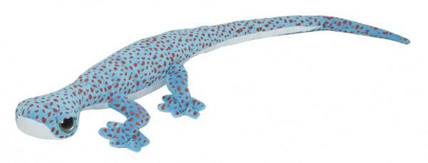 Gecko Kuscheltier, blau