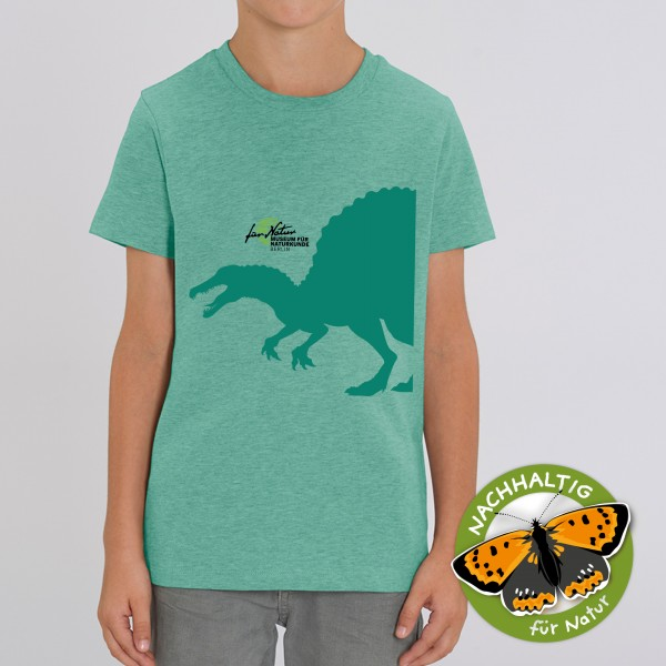Kinder T-Shirt Dino-Silouhette Spino Mid heather green