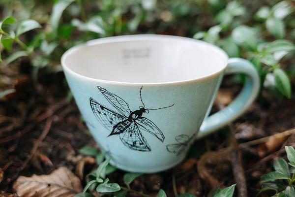 Teepott türkis Schmetterling, VIA