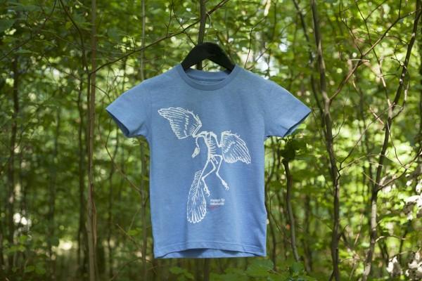 Kinder-Shirt Archaeopteryx Blau