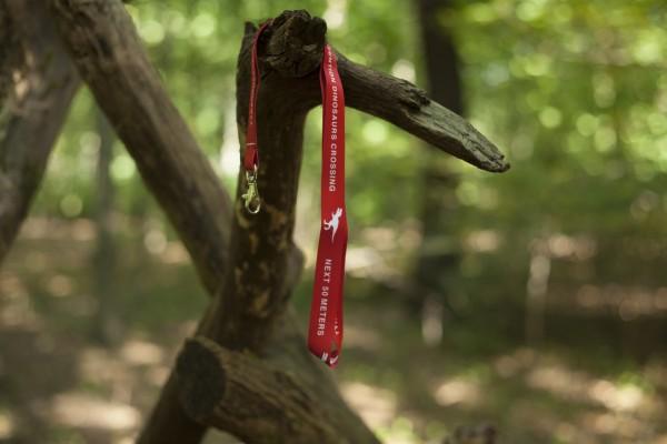 Schlüsselband T-Rex Crossing Rot