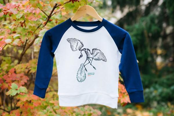 Kinder-Sweater Archaeopteryx Blauweiß