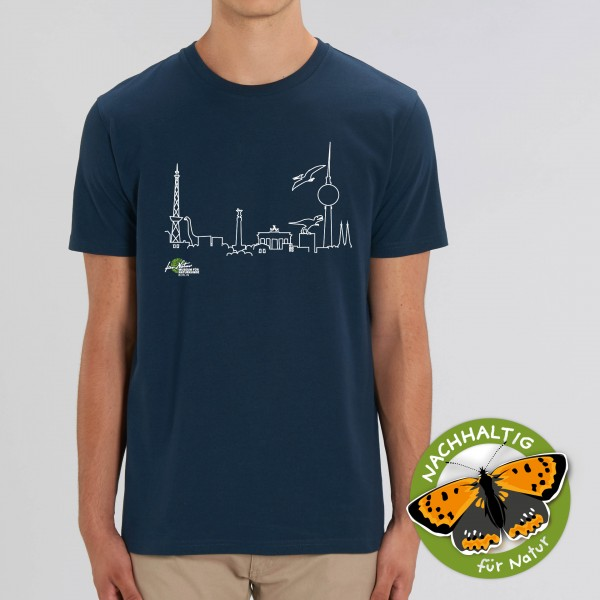 Unisex Shirt Dino-Skyline French navy