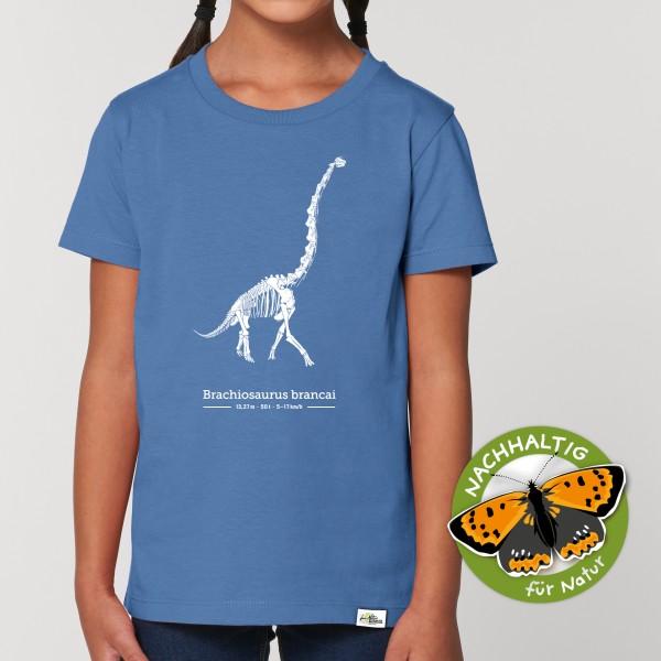 Kinder T-Shirt Brachiosaurus blau