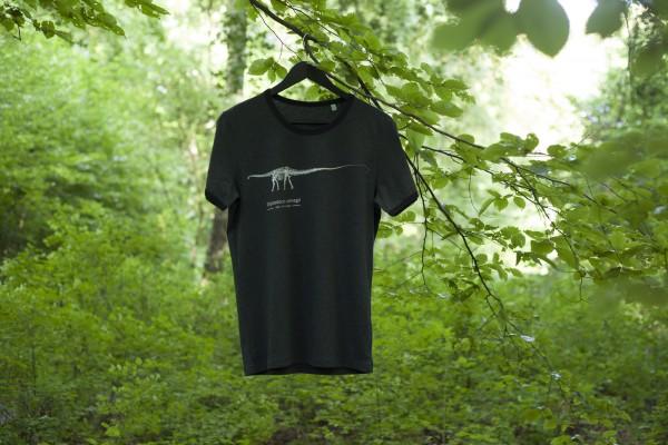 T-Shirt Diplodocus-Skelett Dunkelgrau