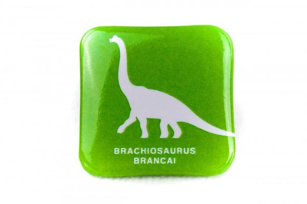 Button Anstecker Dino Brachiosaurus grün