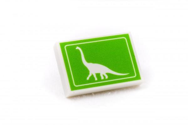 Radiergummi Dino Brachiosaurus Crossing Grünweiß