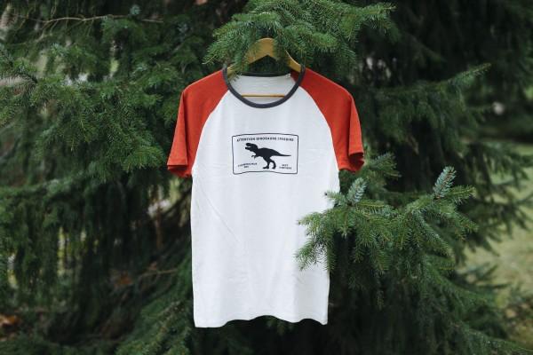 Baseball Shirt T-Rex Crossing Weiß/Burgund