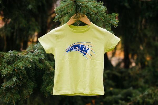 Kinder-Shirt Kometen Glow Gelb