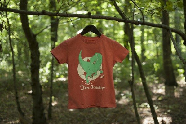 Kinder-Shirt Scientist T-Rex Baby Rot