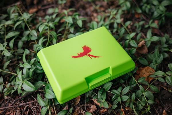 Brotdose Ara fliegend grün