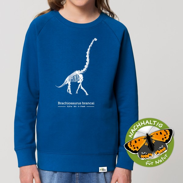 Kinder Sweatshirt Brachiosaurus Majorelle Blau
