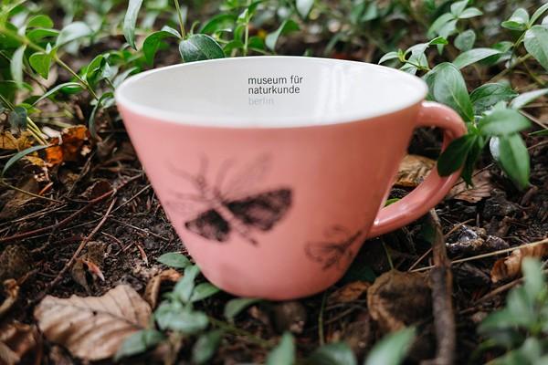Teepott rosa Schmetterling