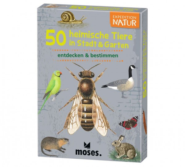 Moses Verlag Expedition Natur 50 heimische Tiere in Stadt & Garten