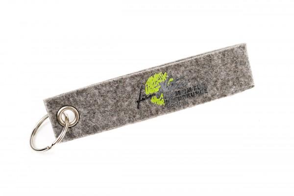 Schlüsselanhänger aus Filz mit MFN Logo